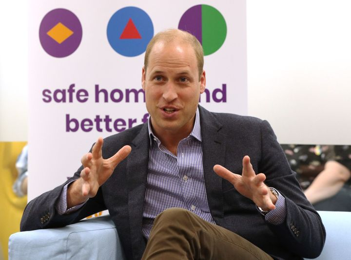 The Duke of Cambridge speaks to former and current service users during a visit to the Albert Kennedy Trust in London to lear
