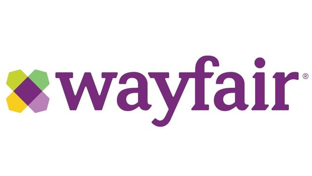 Wayfair logo, e-commerce website, graphic element on white