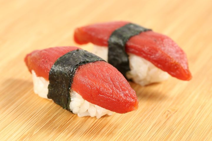 Made from raw tomato, Ahimi has the intention of mimicking the texture of raw, sushi-grade tuna.