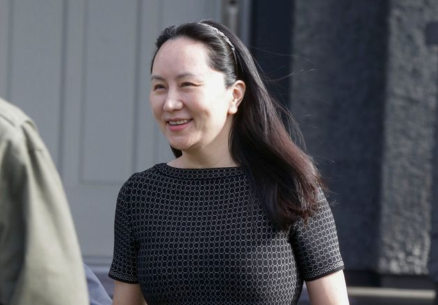 Huawei's chief financial officer Meng Wanzhou leaving her home in Vancouver on May 8,