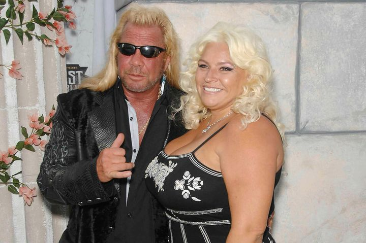 Duane and Beth Chapman at a Comedy Central Roast in Los Angeles.