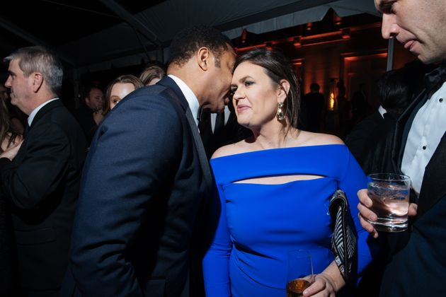 Sarah Huckabee Sanders at the 2018 White House Correspondents' Dinner. After comedian Michelle Wolf made...