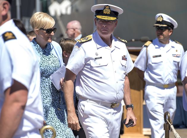 Vice-Admiral Mark Norman at the Royal Canadian Navy Change of Command ceremony in Halifax on June 12,