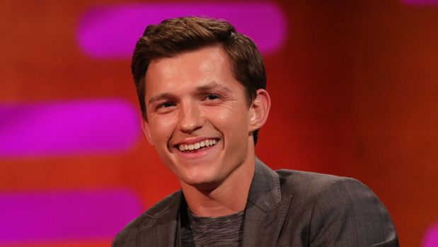 Tom Holland during the filming for the Graham Norton Show at BBC Studioworks 6 Television Centre, Wood Lane, London, to be aired on BBC One on Friday evening. (Photo by Isabel Infantes/PA Images via Getty Images)