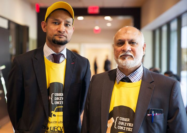 Jimmy Irfn and Ejaz Butt are among the hundreds of Toronto Uber drivers who've unionized to fight for better pay and protection.