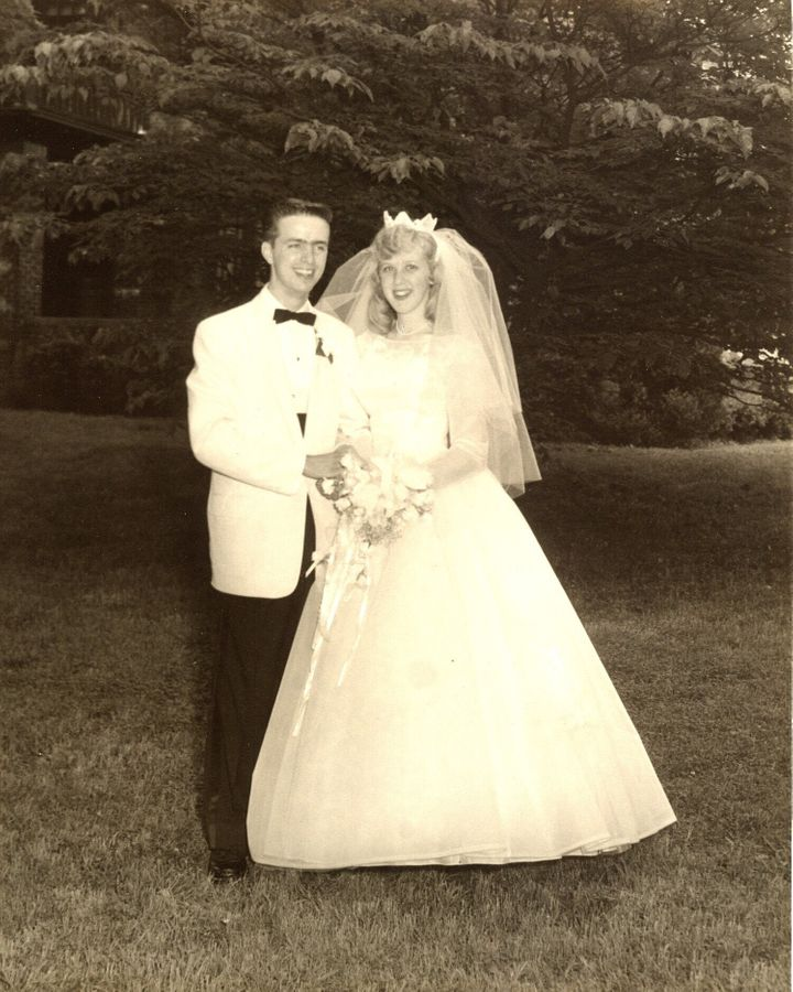 George and Ginger Brown on their wedding day, June 6, 1959.