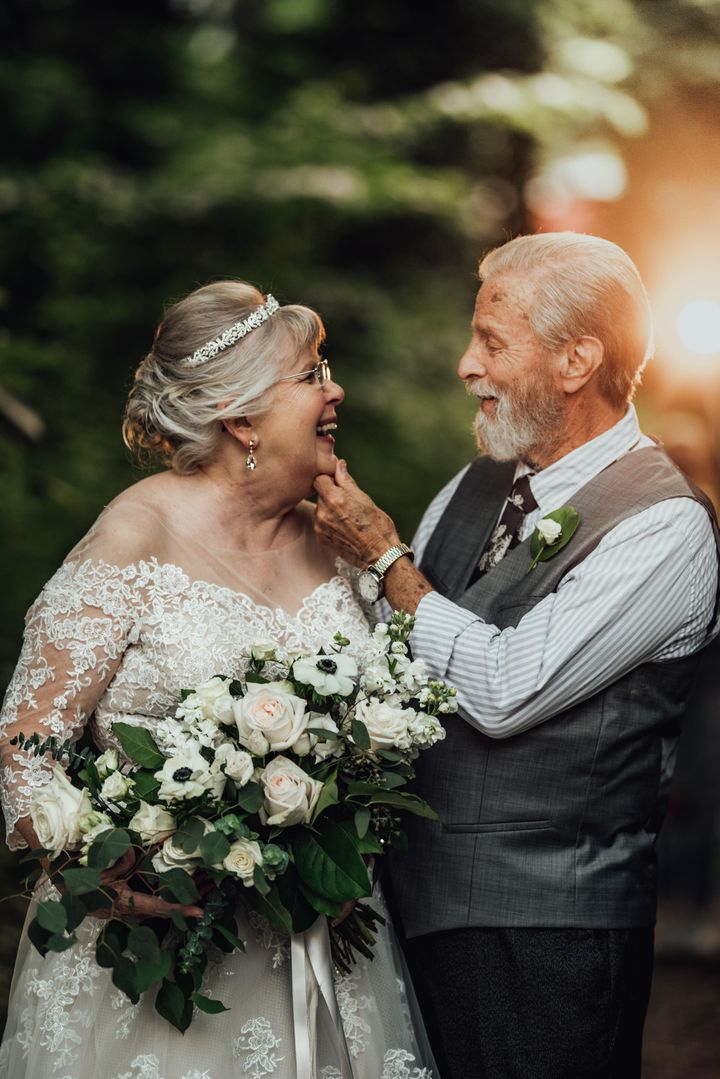 After 60 years of marriage, this couple is still head over heels in love.