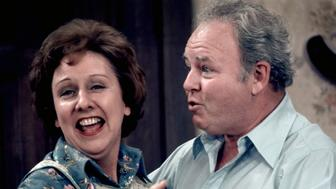LOS ANGELES - JANUARY 1: ALL IN THE FAMILY . Featuring Jean Stapleton (as Edith Bunker) and Carroll O'Connor (as Archie Bunker). 1973. (Photo by CBS via Getty Images)