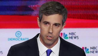 MIAMI, FLORIDA - JUNE 26: Former Texas congressman Beto O'Rourke speaks during the first night of the Democratic presidential debate on June 26, 2019 in Miami, Florida.  A field of 20 Democratic presidential candidates was split into two groups of 10 for the first debate of the 2020 election, taking place over two nights at Knight Concert Hall of the Adrienne Arsht Center for the Performing Arts of Miami-Dade County, hosted by NBC News, MSNBC, and Telemundo. (Photo by Joe Raedle/Getty Images)