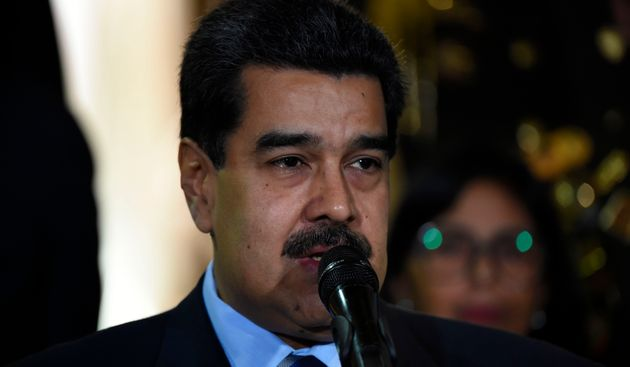 Le président Nicolas Maduro, ici le 21 juin à Caracas, était visé par la...