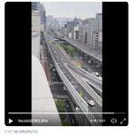 阪神高速、封鎖できました。G20大阪サミットで車が消えた道路、白バイが爽快にかっ飛ばす(動画)