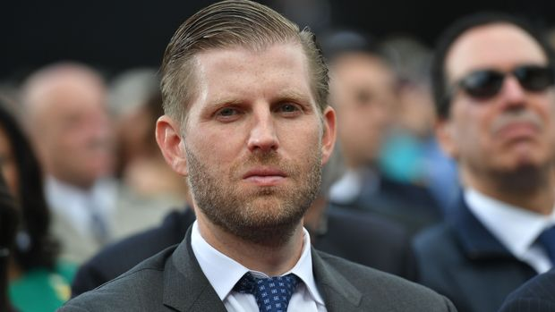 US businessman and son of the US president Eric Trump  attends a French-US ceremony at the Normandy American Cemetery and Memorial in Colleville-sur-Mer, Normandy, northwestern France, on June 6, 2019, as part of D-Day commemorations marking the 75th anniversary of the World War II Allied landings in Normandy. (Photo by MANDEL NGAN / AFP)        (Photo credit should read MANDEL NGAN/AFP/Getty Images)