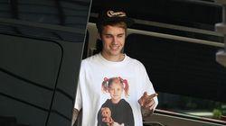La obsesión de Justin Bieber con las camisetas de Drew Barrymore tiene