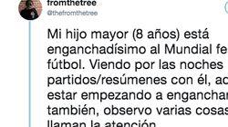 Emoción en Twitter por cómo desmontó un niño los prejuicios de su padre sobre el fútbol