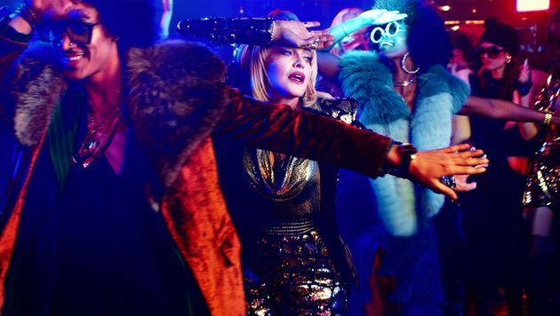 Madonna in the nightclub sequence of the God Control
