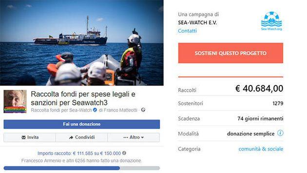 La gara di solidarietà per aiutare la Sea Watch a pagare le sanzioni: raccolti 150mila euro in meno di...