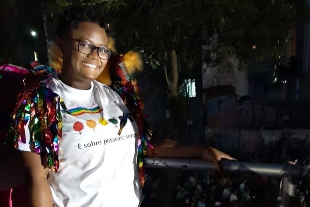 Rosi Mendes, 26, attended her first Pride parade this