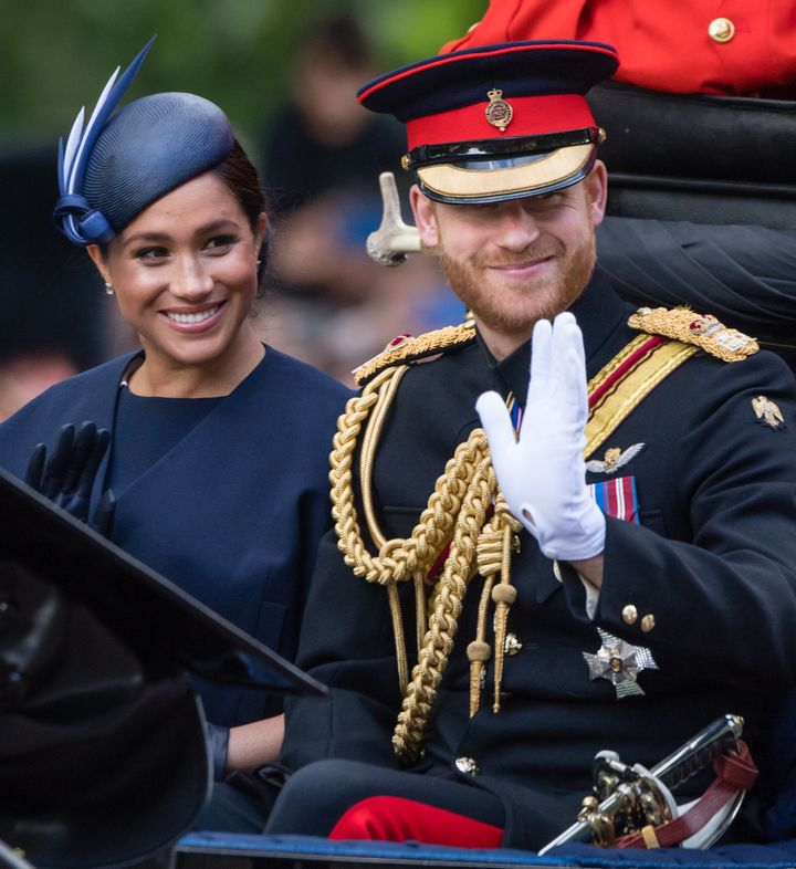 The Duke and Duchess of Sussex attended the Trooping the Colour celebration in June.