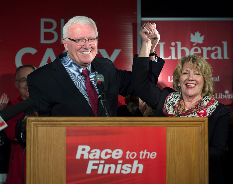 Bill Casey and his wife Rosemary address supporters after winning his seat in the 42nd Canadian...