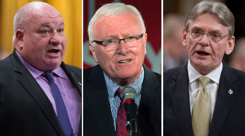 Conservative MP Larry Miller, Liberal MP Bill Casey, and NDP MP David Christopherson are all set to