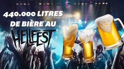 Au Hellfest, les festivaliers ont bu 440.000 litres de