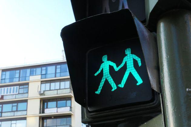 Un semáforo en