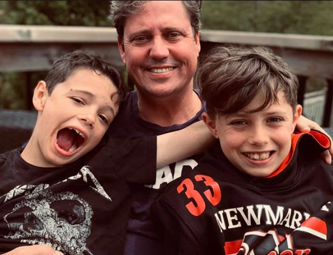Liberal MP Kyle Peterson is shown with his sons in a photo from his Facebook page.