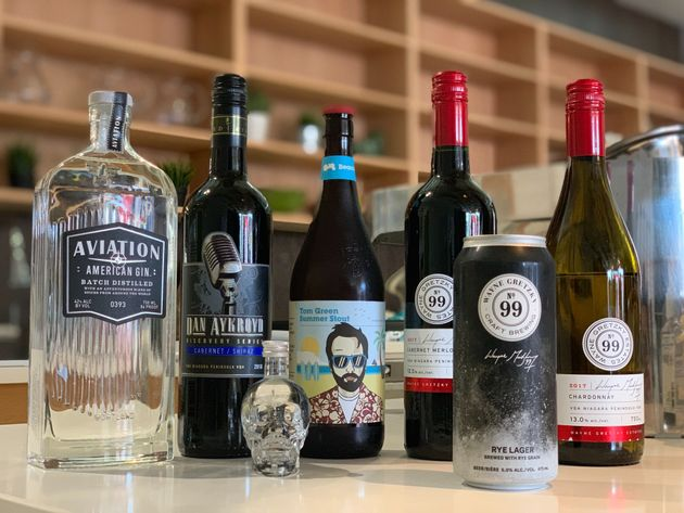 A humble offering of some of the beer, wine and spirits made by Canadian celebrities and samples by HuffPost...
