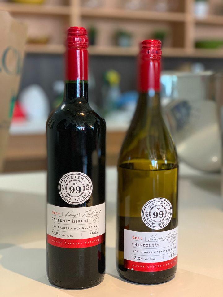 Wayne Gretsky's Cabernet Merlot and Chardonnay offerings.