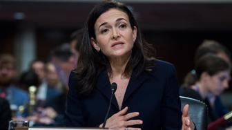 UNITED STATES - SEPTEMBER 05: Sheryl Sandberg, Facebook COO, and Jack Dorsey, Twitter CEO,  off camera, testify during a Senate (Select) Intelligence Committee hearing in Dirksen Building where they testified on the influence of foreign operations on social media on September 5, 2018. (Photo By Tom Williams/CQ Roll Call)