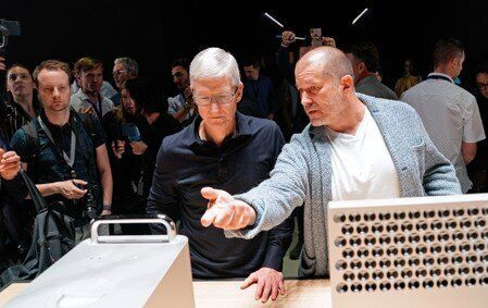 Apple Chief Executive Officer Tim Cook and Chief Design Officer Jony