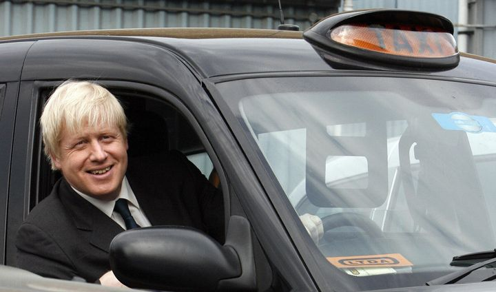 Newly-elected Mayor of London in 2008