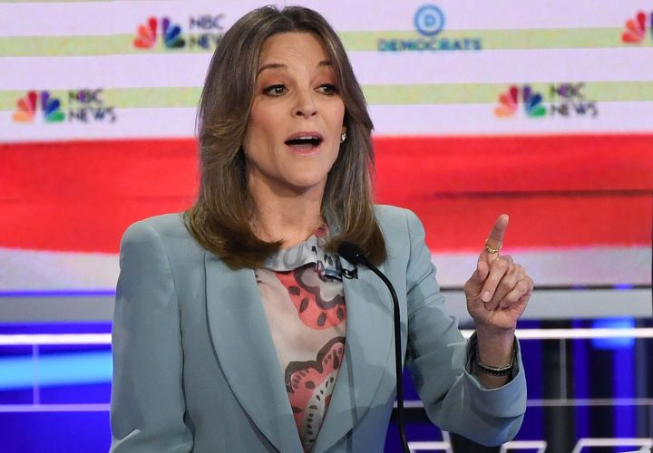 """""""You have harnessed fear for political purposes, and only love can cast that out."""" -- Marianne Williamson to President Donald"""