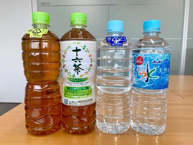 ラベルレス・ボトルと従来品の比較