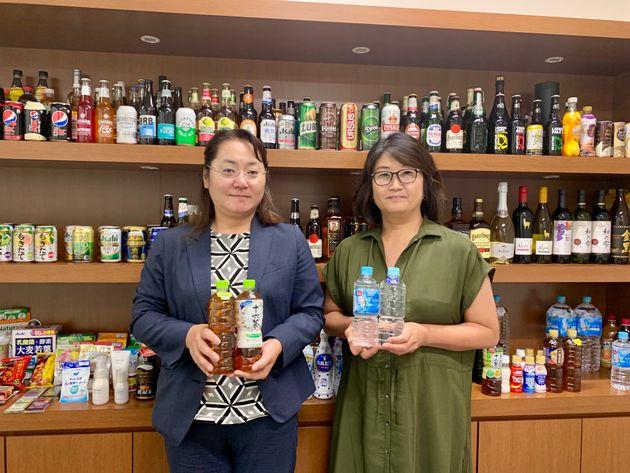 コーポレートコミュニケーション部の松沼彩子さん(左)と、マーケティング部の飯島宙子さん(右)