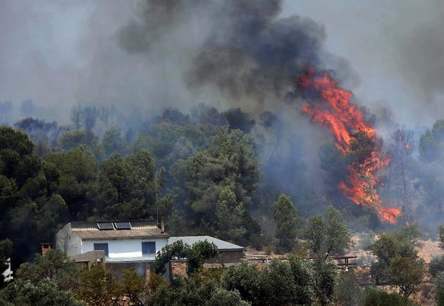 El incendio descontrolado en la Ribera d'Ebre arrasa más de 6.500 hectáreas y es el peor en 20 años en