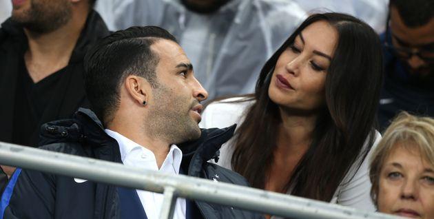 Sidonie Biémont et Adil Rami au Stade de France le 3 juillet