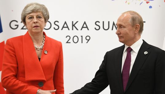 Theresa May And Vladimir Putin's Handshake Could Be The Most Awkward Thing