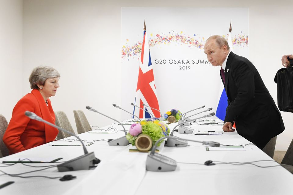 May told reporters that the meeting gave her the chance to deliver a 'very clear message, leader to