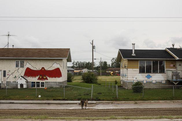 Les rues de Maskwacis, en Alberta, au Canada. Maskwacis est une communauté autochtone aux prises...