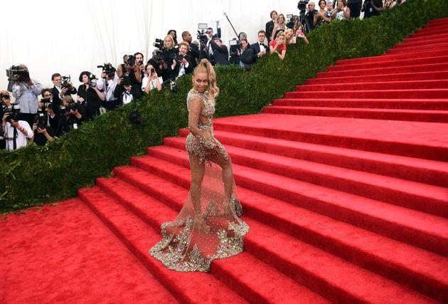 Η Beyoncé στο Met Gala του 2015.