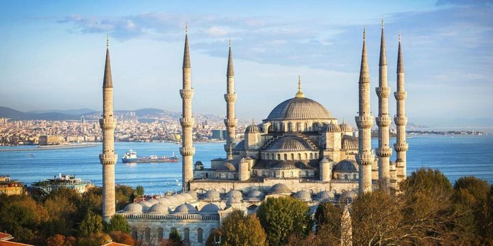Istanbul's Blue Mosque is a popular tourist destination.