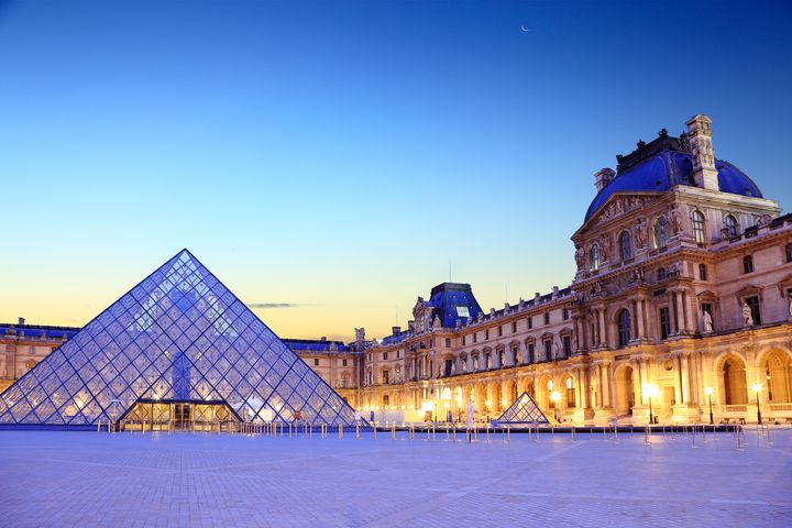 The Louvre in Paris contains a wealth of art.