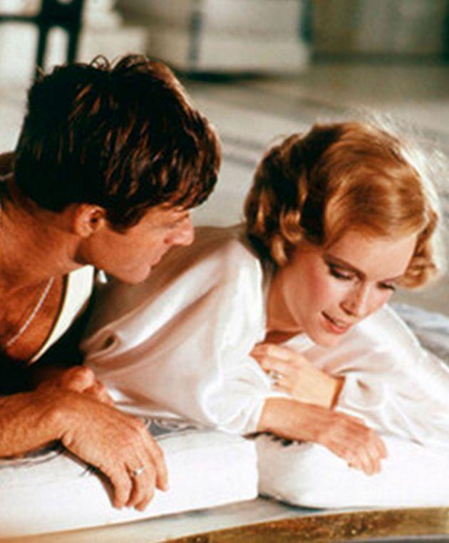 Robert Redford y Mia Farrow en 'El gran