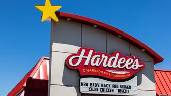 Indianapolis - Circa July 2017: Hardee's Retail Location. Hardee's and Carl's Jr. are Subsidiaries of CKE Restaurants V