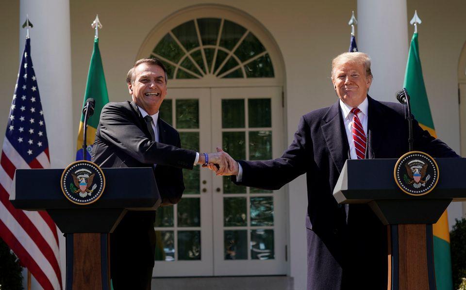 Bolsonaro em visita a Donald Trump, em