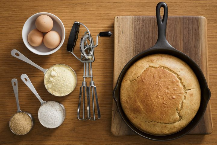 "Many cornbreads are made with bacon fat or lard. (Even your store-bought mixes aren't safe: <a href=""https://site.jiffymix.com/product/"" target=""_blank"" rel=""noopener noreferrer"">Jiffy contains hydrogenated lard</a>.)"