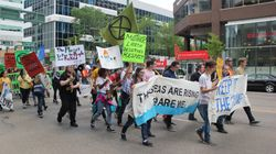 Student Groups Tussle At Climate Justice Rally In