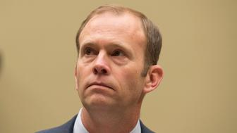 "Washington, DC - November 29: FEMA Administrator, William, ""Brock"" Long testifies at a Congressional hearing on FEMA's response to disasters in Washington DC on November 29, 2018. Credit: Patsy Lynch/MediaPunch /IPX"