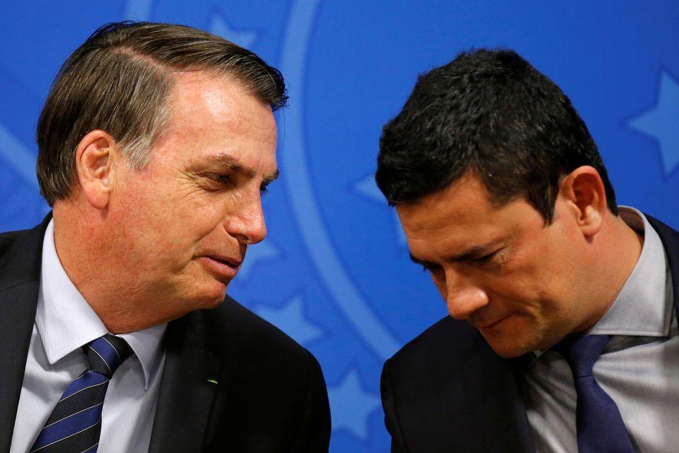 Bolsonaro e Moro: em sintonia no